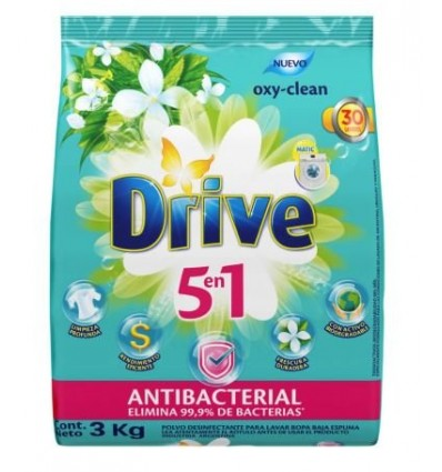 DET.POLVO DRIVE MATIC ANTIBAC 3KG x 3 un.