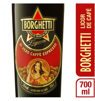 BORGHETTI LICOR FINO DE CAFE 700CC x 1 un.
