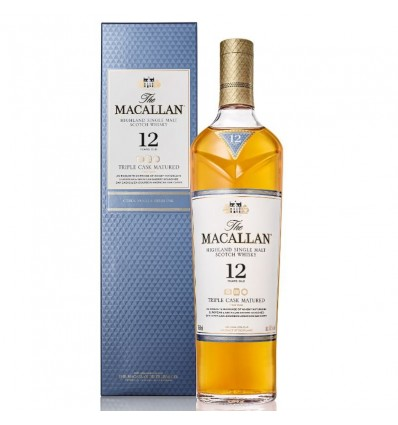 WHISKY MACALLAN TRIPLE CASK 12 A EST 700CC x 1 un.