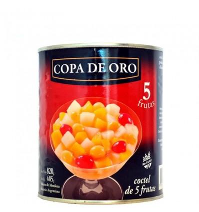COCTEL DE 5 FRUTAS COPA DE ORO 820 GRS x 6 un.
