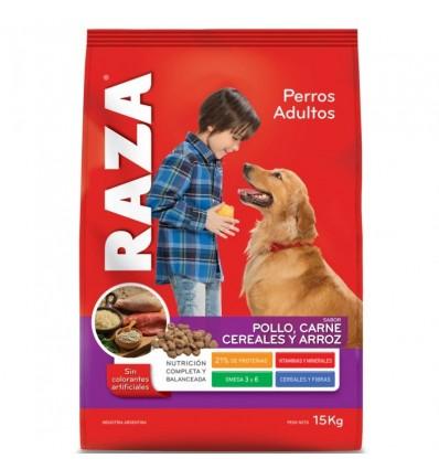 RAZA P/PERROS POLLO/CAR/CER/ARROZ 1500GR x 12 un.