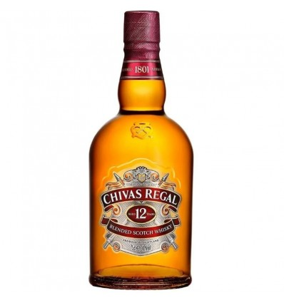WHISKY CHIVAS REGAL 12 AÑOS ESTUCHE 750CC x 1 un.
