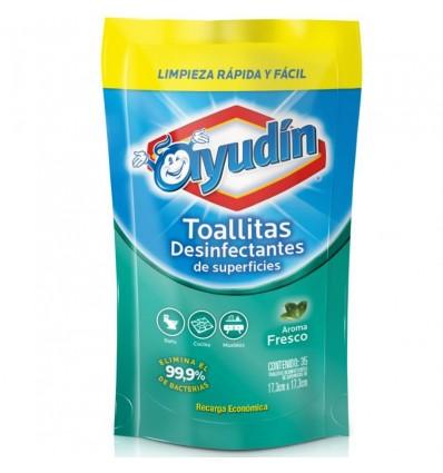 TOALLITAS AYUDIN FRESCO DP 35UN x 6 un.